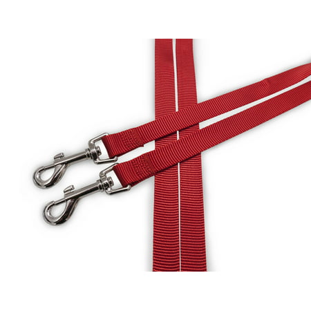 FurHaven Pet Dog Leash | Two Tails Walking Double Dog Pet Leash, Ruby Red 2 Dog Leash Leash