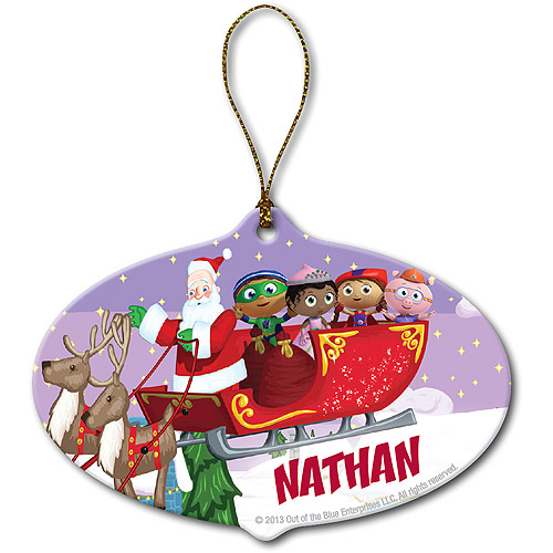 Personalized Super Why! Santa's Sleigh Christmas Ornament