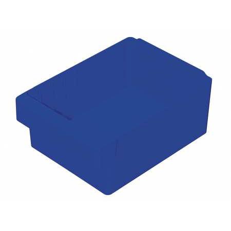 Akro-Mils 20 Lb Capacity, Drawer Bin, Blue