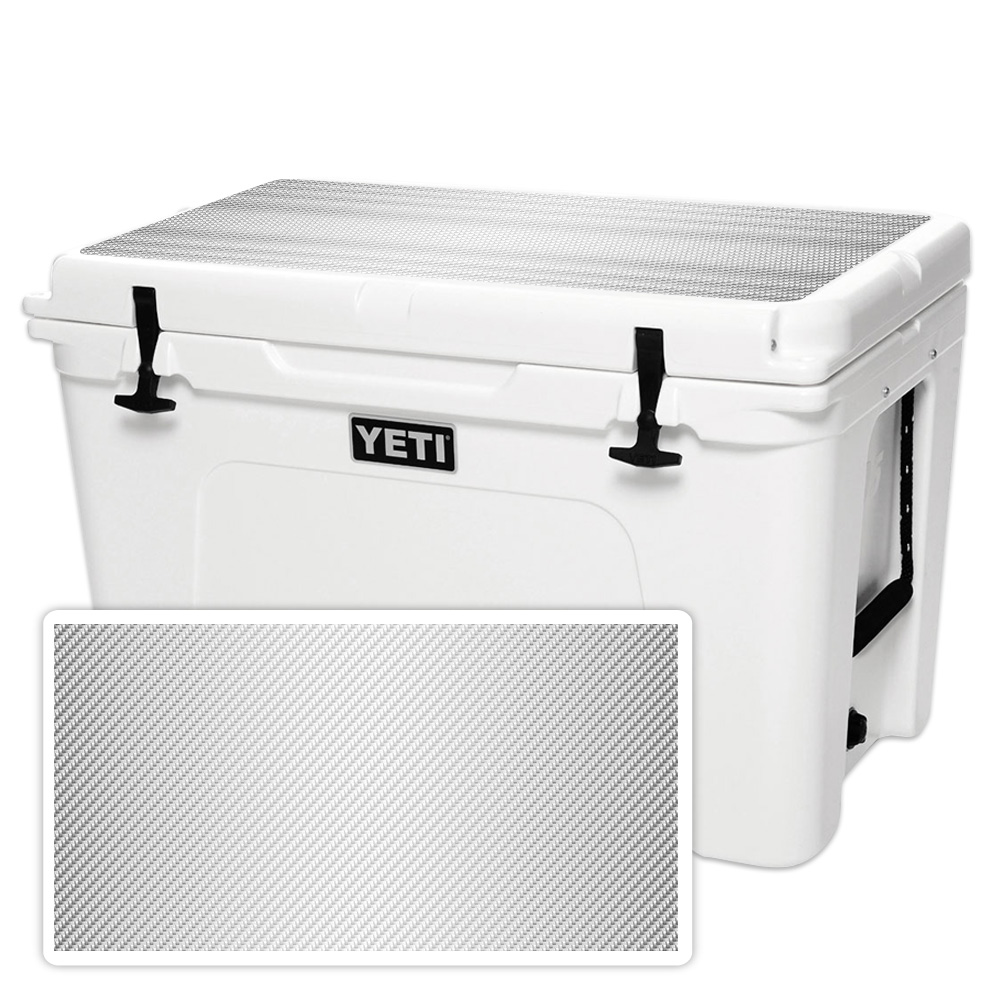 MightySkins Protective Vinyl Skin Decal for YETI Tundra 110 qt Cooler Lid wrap cover sticker skins Black Diamond Plate