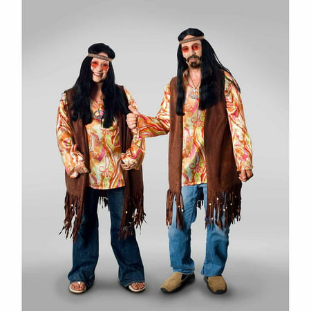Lava Diva Hippie Shirt Women's Plus Size Adult Halloween Costume - Hippie Outfits Halloween