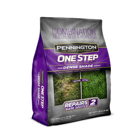 Pennington One Step Complete Dense Shade Grass Seed, Patch and Repair; 5 lb.