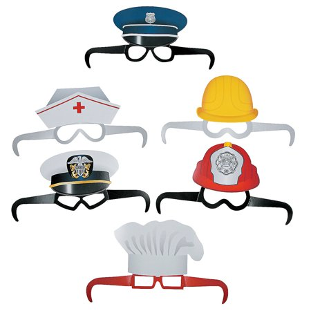 Fun Express - Community Helper Paper Glasses - Apparel Accessories - Eyewear - Novelty Glasses - 12 Pieces](Community Halloween Party)