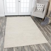 Rizzy Home ID917A Natural 5' x 8' Hand-Tufted Area Rug