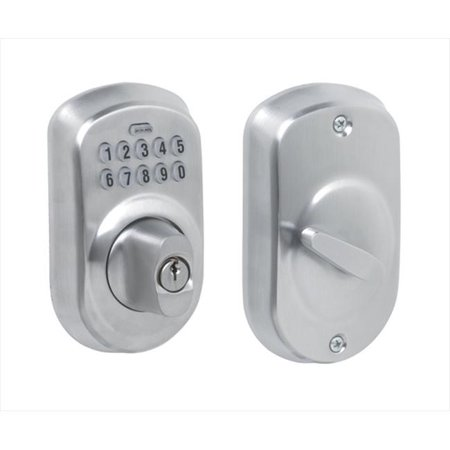 626 Deadbolt (SCHLAGE BE365 PLY 626 Deadbolt Lock,Satin Chrome,10 Button)
