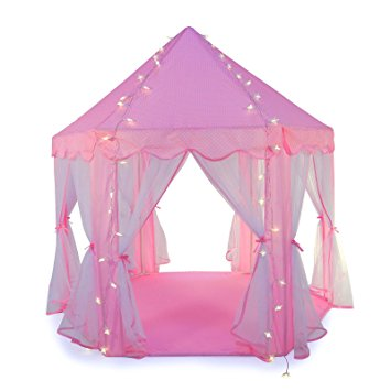 Truedays Girls Princess Castle Play Tent Large Playhouse Indoor Outdoor for Kids with Led small Star  sc 1 st  Walmart & Truedays Girls Princess Castle Play Tent Large Playhouse Indoor ...