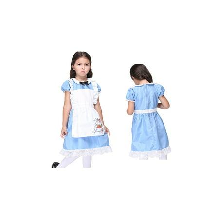 Quick Alice In Wonderland Costume (Alice Wonderland Girls Complete Halloween)