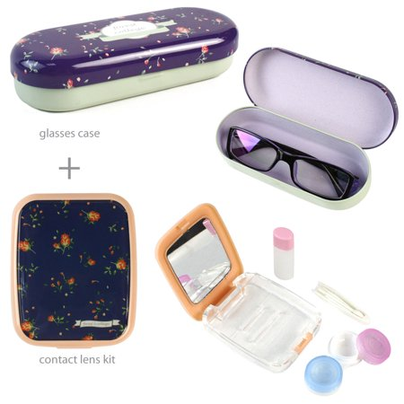 JAVOedge Lunettes Rose + Contacts Kit de protection Bundle