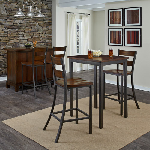 Home Styles Cabin Creek 3-Piece Bistro Set, Chestnut