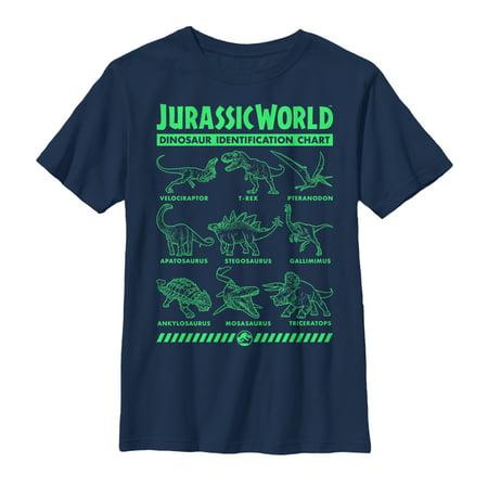 Jurassic World: Fallen Kingdom Boys' Fallen Kingdom Dinosaur Identification Card T-Shirt](Boys Kingdom)