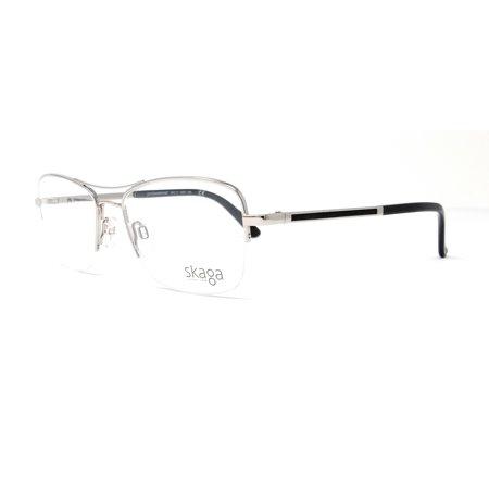 SKAGA Eyeglasses SK2579 SANDBERGET 504 Silver Aviator (Aviator Eyeglass Frames)