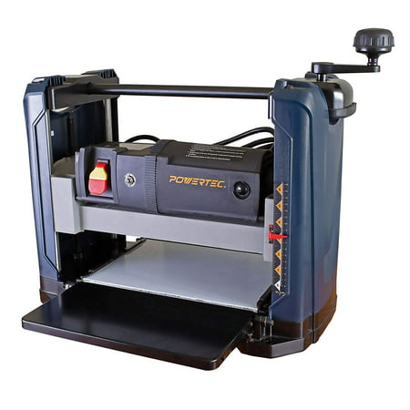 POWERTEC PL1252 15 Amp 2-Blade Benchtop Thickness Planer For Woodworking | 12-1/2 in.