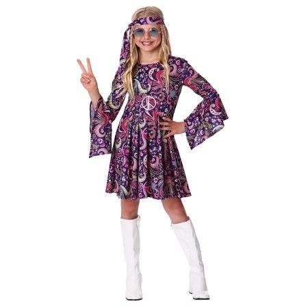 Girl's Woodstock Hippie Costume - image 3 of 3