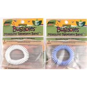 2 - BUGABLES Mosquito Repelling Spiral Bracelets Deet Free Non-Toxic + Free Shipping