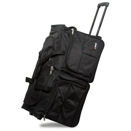 7f2103dcfe105f Hipack 28-Inch Heavy Duty Rolling Duffle Bag - Walmart.com