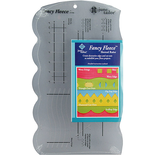June Tailor Fancy Fleece Slotted Ruler, 1 Each