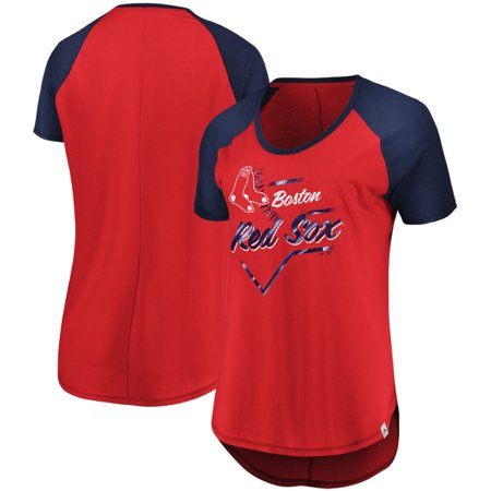 5685ca40 Boston Red Sox Majestic Women's Game Shake-Up Raglan T-Shirt - Red -  Walmart.com