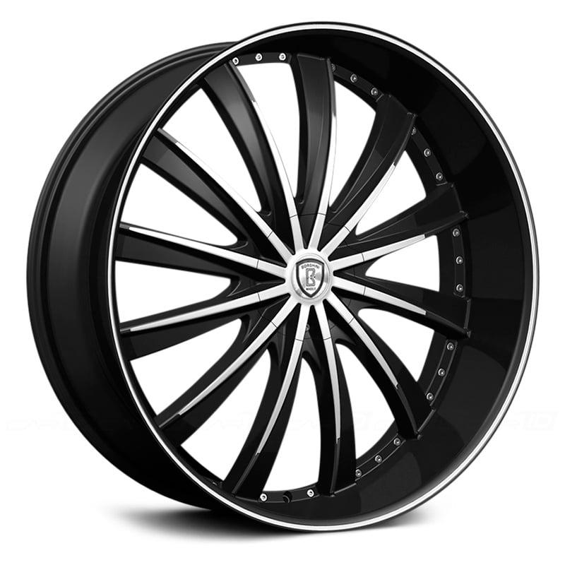26 Inch Borhgini B19 Black Machine Wheels Rims Only