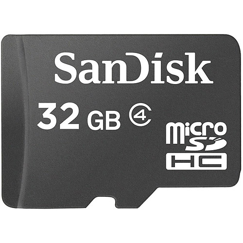 SanDisk 32GB Class 4 MicroSD Flash Memory Card with Adapter