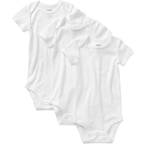 Child of Mine by Carters Newborn Baby 3 Pack Short Sleeve Bodysuit Set