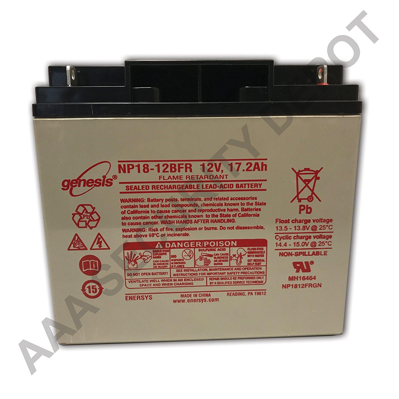Genesis Np18 12bfr 12 Volt172 Amp Hour Sealed Lead Acid Battery