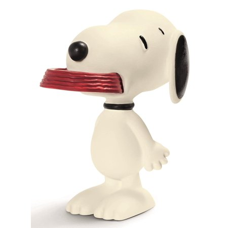 Peanuts Snoopy with His Supper Dish Figure, Hand Painted By Schleich