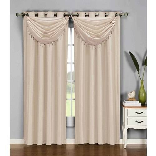 Jane Faux Silk Grommet Curtain Panels by YMF Carpets Inc.