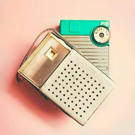 Vintage Transistor Radio on Pink Canvas Art - Vicki Dvorak (24 x 24)
