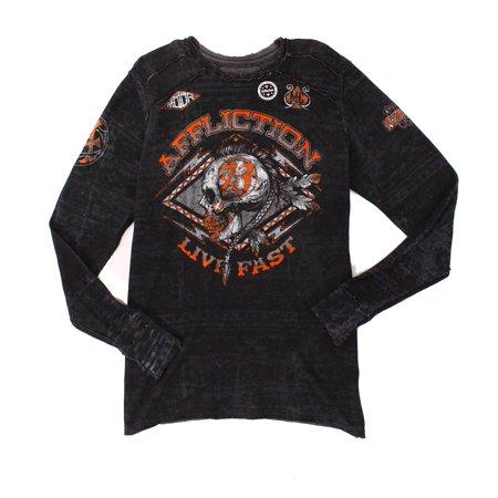 abb49be7 Designer - Designer NEW Black Mens Size XL Waffle Knit Graphic Print Tee  T-Shirt 052 - Walmart.com