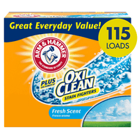Arm & Hammer Plus OxiClean Powder Laundry Detergent, Fresh Scent, 115 Loads