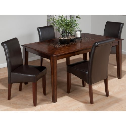 Jofran Baroque 5 Piece Dining Table Set with Tile Inset