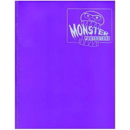 Monster Binder - 4 Pocket Matte Purple Album - Holds 160 Yugioh, Magic, and Pokemon Cards