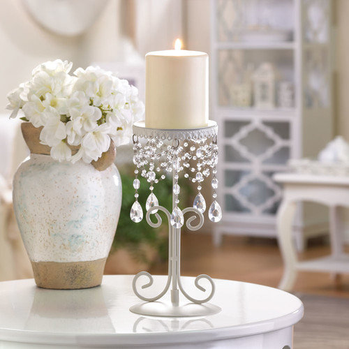 Zingz & Thingz Beaded Crystal Candle Stand