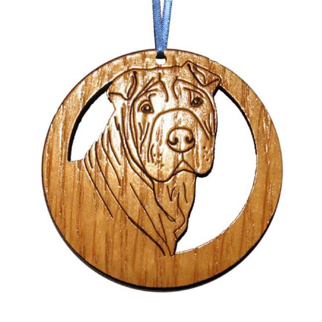 CAMIC designs DOG022N Laser-Etched Shar-Pei Dog Ornaments - Set of 6