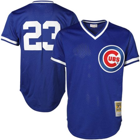 Mitchell & Ness Ryne Sandberg Chicago Cubs Cooperstown Authentic Collection Throwback Replica Jersey - Royal Blue (Light Blue Adult Replica Jersey)
