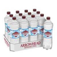 Arrowhead Sparkling Water, Simply Bubbles, 33.8 oz. Bottles (Pack of 12)