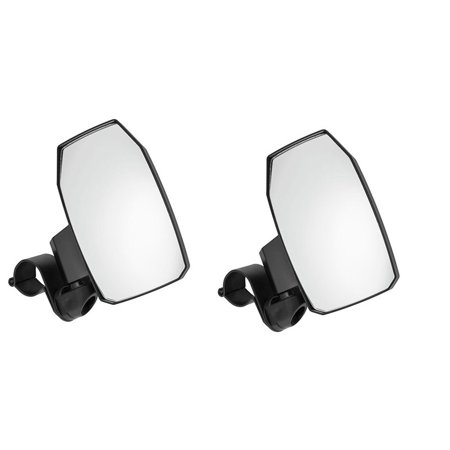 "QuadBoss Black Side View Mirrors (Pair) UTV 2"" Roll Cage 18051T"