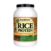 Rice Protein, Vanilla Nutribiotic 3 lbs Powder