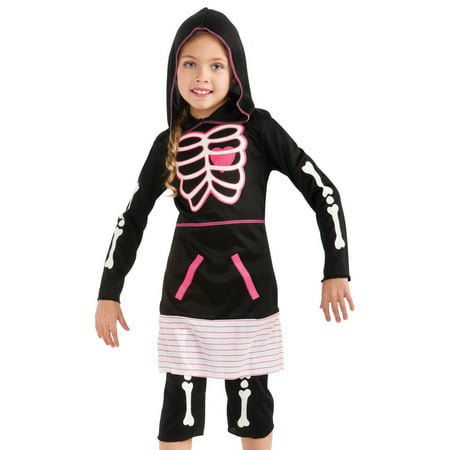 Rubies Girls Cute Goth Punk Skeleton Kids Halloween - Cute Kids Halloween