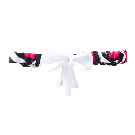 Azul Girls Black Pink Animal Print Zebra Love Bow Accent Stylish Headband - Zebra Headband