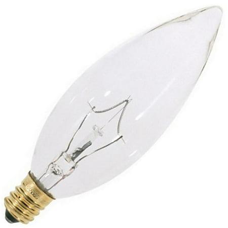 Satco 03283 - 40BA9 1/2 S3283 BA9 5 Decor Torpedo Light Bulb Halva 1 Bulb
