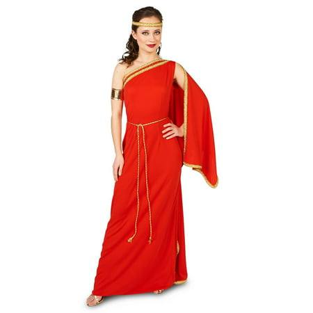 Royal Ruby Toga Adult Costume - Party City Toga