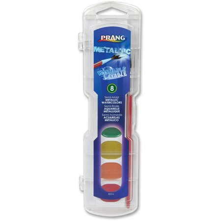 Prang, DIX80516, Washable Metallic Watercolors Set, 8 / Set