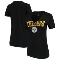 26ab59ba88d7 Product Image Pittsburgh Steelers New Era Women s Baby Jersey V-Neck Choker  T-Shirt - Black