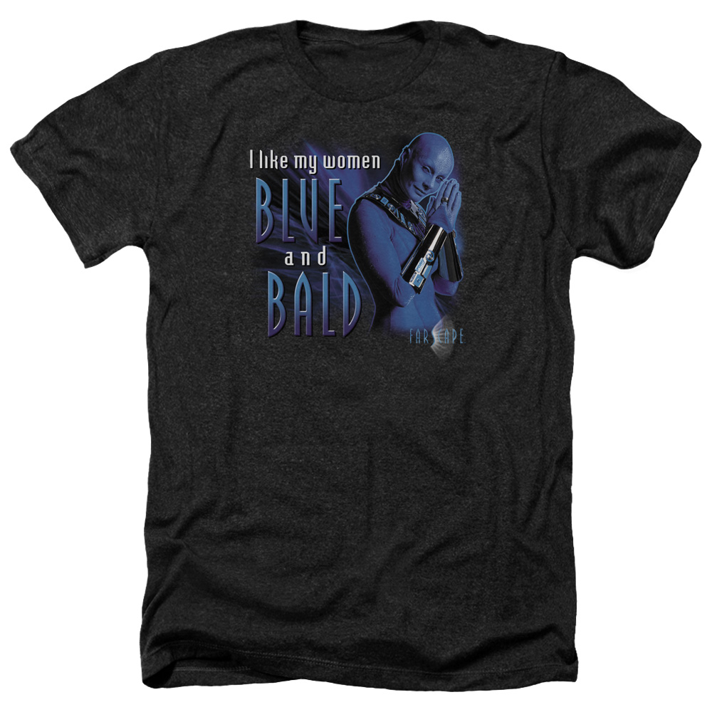 Farscape Blue And Bald Mens Heather Shirt