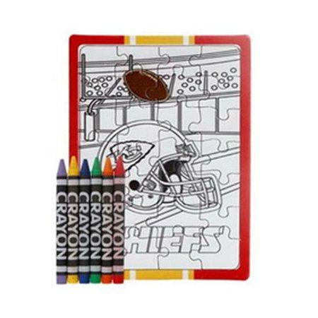 NFL Kansas City Chiefs Color Your Own Puzzle - Make Your Own Puzzle