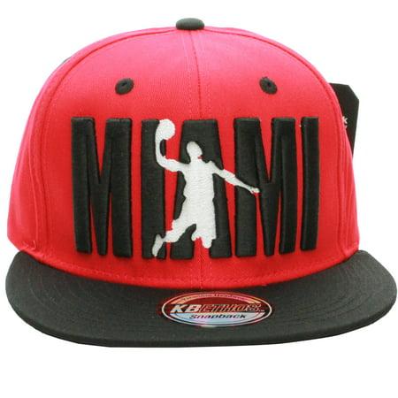 American Cities Miami Flat Visor Bill Ball Player Logo Snapback Hat Cap