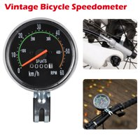 TSV Old School Style Bicycle Speedometer Analog Odometer Classic Style for 26/27.5/28/29 inch Bike, Waterproof