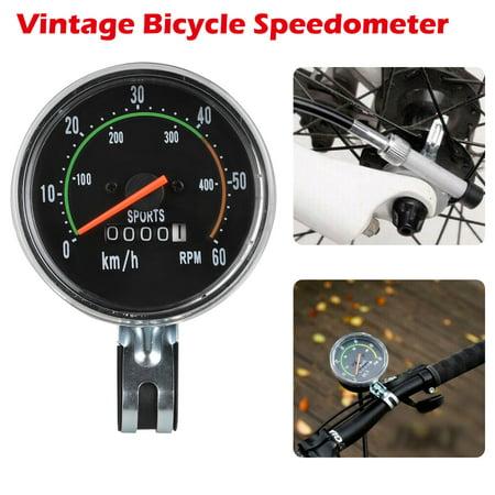 TSV Old School Style Bicycle Speedometer Analog Odometer Classic Style for 26/27.5/28/29 inch Bike, (Best Bike Odometer App)