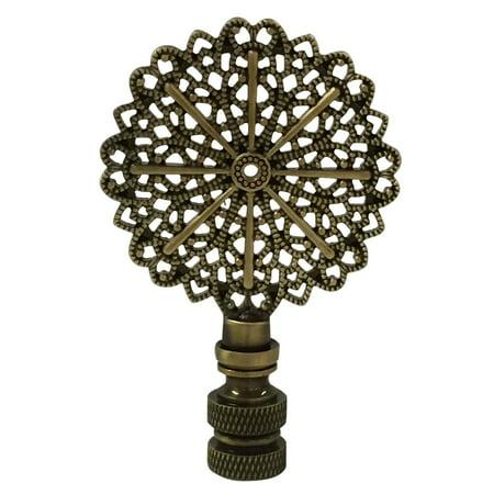 Royal Designs Traditional European Filigree Lamp Finial for Lamp Shade- Antique -